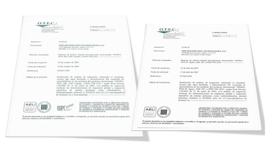 Certificados de ePIPE®